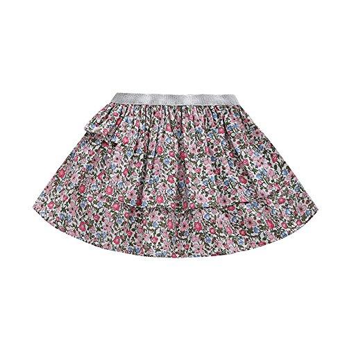 Cutelove Girls Summer Cotton Cute Skort Elastic Waist Floral Skirt Dress