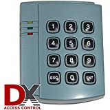 Proximity Access Control Card and Fob Keypad Reader - Indoor/Outdoor rated - 125MHz by DX
