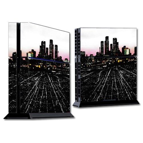 MightySkins Skin Compatible con Sony PS4 Console - Urban Night | Cubierta protectora, duradera y exclusiva de vinilo adhesivo | Fácil de aplicar, eliminar y cambiar estilos | Hecho en los Estados Unidos.