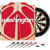Trademark Gameroom NBA7010-WW2 NBA Dart Cabinet Set with Darts & Board - Fade - Washington Wizards