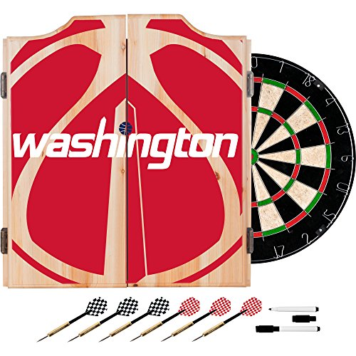 Trademark Gameroom NBA7010-WW2 NBA Dart Cabinet Set with Darts & Board - Fade - Washington Wizards by Trademark Global