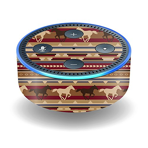 MightySkins Skin Compatible with Amazon Echo Dot (2nd Gen) - Western Horses | Protective, Durable, and Unique Vinyl Decal wrap Cover | Easy to Apply, Remove, and Change Styles | Made in The USA