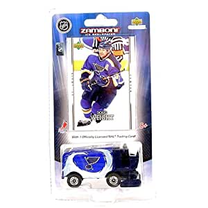 St. Louis Blues Diecast Zamboni Collectible with Doug Weight card 2007 Upper Deck NHL Hockey Team Toy