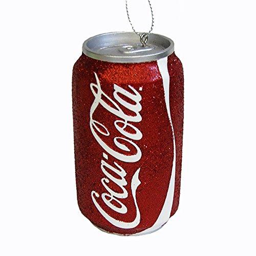 Kurt Adler Red Glittered Classic Coke Can - Christmas Cola Coca Decorations