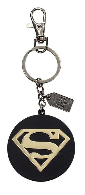 Universo DC- Llavero logo de metal Superman, Color dorado (SD Toys SDTWRN20925)