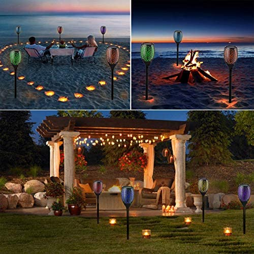 LED Luces Solares Antorchas 7 Colores RGB Lamparas Solares Jardin ...