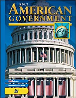 Holt American Government - Chapter Tests with Answer Key 0030666384