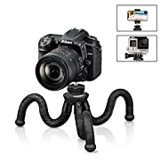 #LightningDeal 84% claimed: Flexible Camera Tripod, UBeesize 12 inch Mini Tripod Stand GoPro/Action Cam/DSLR Canon Nikon Sony, Smartphone Tripod Stand Cell Phone Holder, Compatible iPhone/Android (3 in 1) - Waterproof