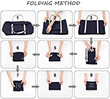 SPAHER Duffle Bag 32L Ultra Lightweight Foldable Packable Overnight Holdall Waterproof Travel Handbag Shoulder Organizer Storage Carrying Bag for Shopping Gym Luggage Sports Camping