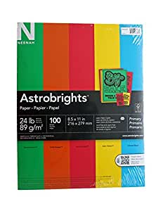 """Astrobrights Color Paper, 8.5""""x11"""", Primary"""