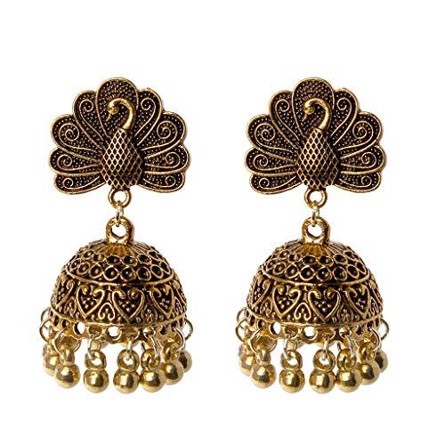 Tribal Boho Bronze Earrings  Greatly Decorated