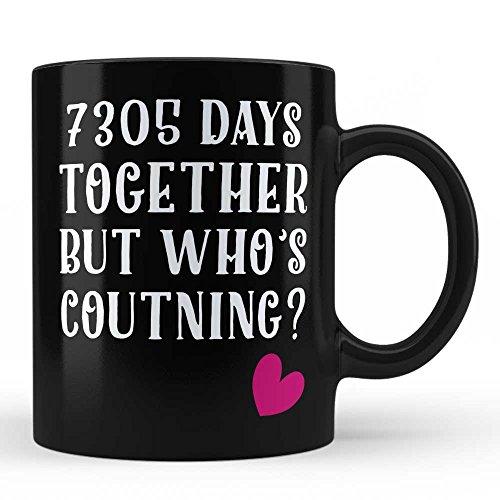 20th Wedding Anniversary Gifts Mug for Wife Husband Wifey Girlfriend Boyfriend Life Partner- Anniversary Gift, Valentine's Day Gift, Birthday Gift Black Coffee Mug by HOM (Mug China Jubilee)
