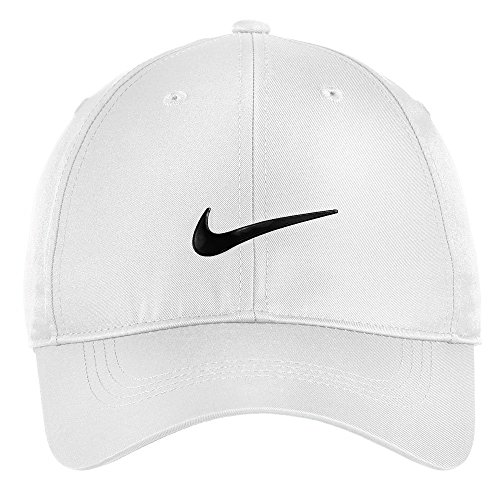 Nike Authentic Dri-FIT Low Profile Swoosh Front Adjustable Cap - White (Nike Sports Cap)