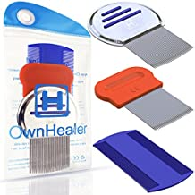 Head Lice Comb Set for Fast, Safe Premium Quality Removal of Lice Eggs and Nits. Best Results for Head Lice Treatment on all Different Types of Hair exclusively from OwnHealer !
