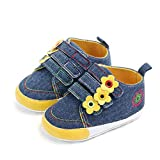 NUWFOR Baby Girls Newborn Infant Baby Canvas Shoes Casual First Walkers Toddler Shoes(Dark Blue,12-15Months)