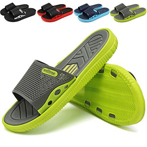 7adc43563 welltree Men s Slide Slipper Shower Pool   Beach Garden Quick Drying Sandal