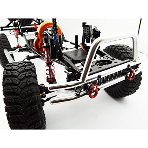 Tubular Front Bumper w/ Winch and Light Mount SCX03EMA01