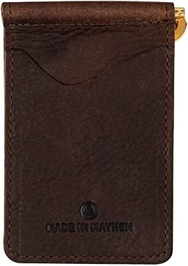 1072c26a51c Made in Mayhem Madison Genuine Leather money clip wallet Slim wallet made  in USA - Seal