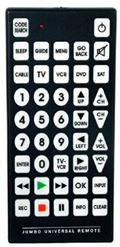 jumbo remote control the best amazon price in savemoney es rh savemoney es Emerson Jumbo Universal Remote Manual Jumbo Universal Remote Codes List