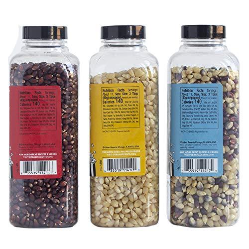 Urban Accents BLOCKBUSTER, Movie Night Popcorn Kernels Gift and Popcorn Seasoning Variety Pack (Set of 10)-3 Kernels, 6…