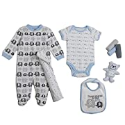 Cutie Pie Baby Newborn Boy Elephant 9Pc Layette Set In Tulle Bag On Hanger 0-3M