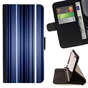 DEVIL CASE - FOR Samsung Galaxy S5 Mini, SM-G800 - Stripes Neon Blue Light Wallpaper Lines - Style PU Leather Case Wallet Flip Stand Flap Closure Cover
