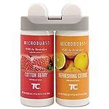 Rubbermaid Commercial 3485952 Microburst Duet Refills, Cotton Berry/Refreshing Citrus, 3oz, 4/Carton