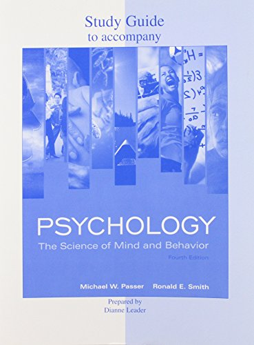 Study Guide to Accompany Psychology: The Science of Mind and Behavior 4th Edition