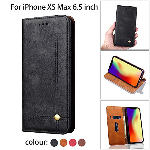 - Sinwo Leather Slot Wallet Case Stand Flip Cover Skin Case for Apple iPhone XS Max 6.5inch (Black, for iPhone XSMax 6.5inch)