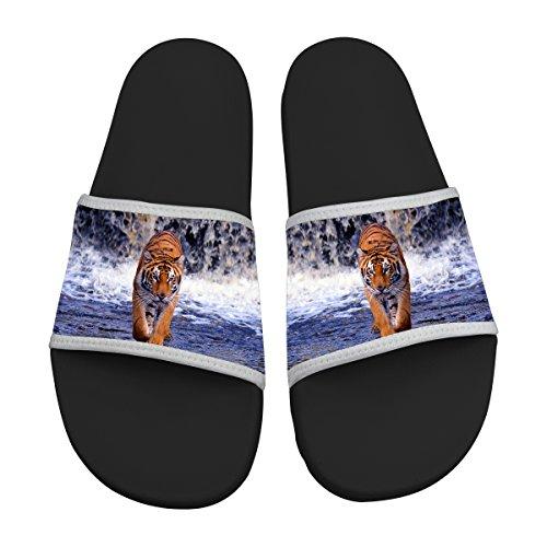 Jane-LEE shoe Comfortable Slipper Flip Sandals Flats Flops Tiger Designs For Men & Women (Tiger Flip Sandals)