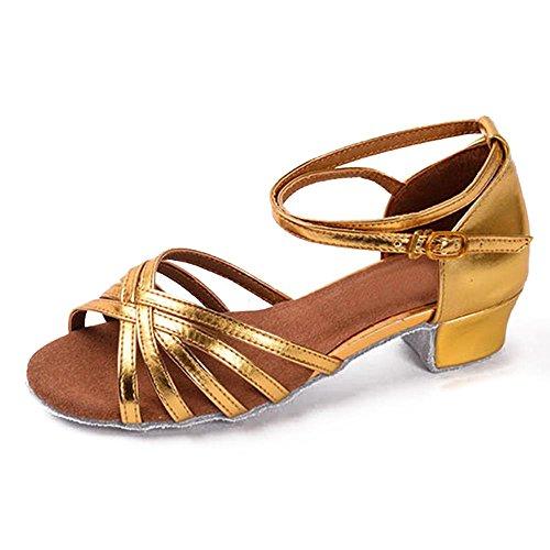 Bal Tango pour Talons 5 Les 8 de Chaussures Filles Mesdames Danse Femmes Bas YFF Enfants Danse Latine Enfants Or dS5qUz0
