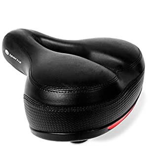 Bike Seat Comfortable Bicycle Cushion | Cycling Saddle Replacement for Men and Women | Universal Fit for Comfort, Mountain, Cruiser, Exercise Bikes