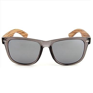 MALVARROSA SUNGLASSES TERRA-CARBONO Gafas de sol, Wayfarer, Polarizadas, 48, Moka/Bambú y Marrón