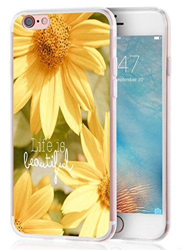 Iphone 6S Plus Case, Apple Iphone 6 Plus Case life is beautiful quotes sunflower art