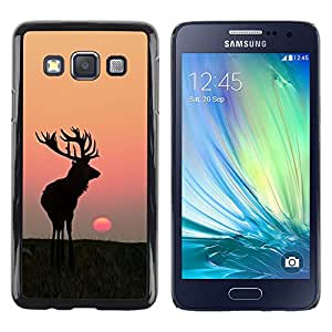 Impact Case Cover with Art Pattern Designs FOR Samsung Galaxy A3 Moon Sunset Summer Antlers Hunting Deer Betty shop
