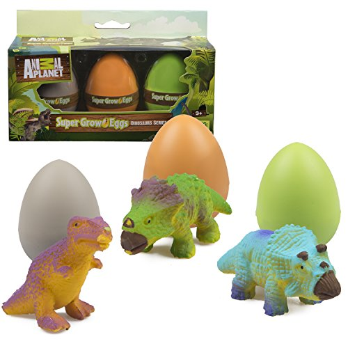 Animal Planet Grow Eggs- Dinosaur - Hatch and Grow Three Different Super-Sized Dinos (Series (Toys In Eggs)