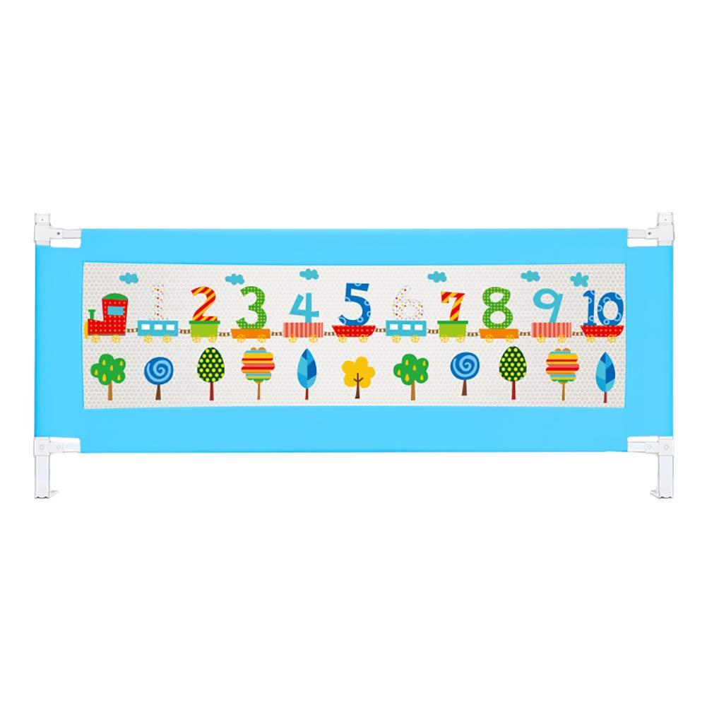 ベッドフェンス, 赤ちゃんのための青いポータブルベッドレール赤ちゃんBedRail安全ガード - 高さ63cm (サイズ さいず : 200cm) 200cm  B07KCV31GR