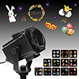 Birthday Decorative Lights, MeeQee Exclusion Design 12 Slides Projector Light Show Waterproof Light Projector Outdoor/Indoor Decorative Light for Easter Birthday Pa