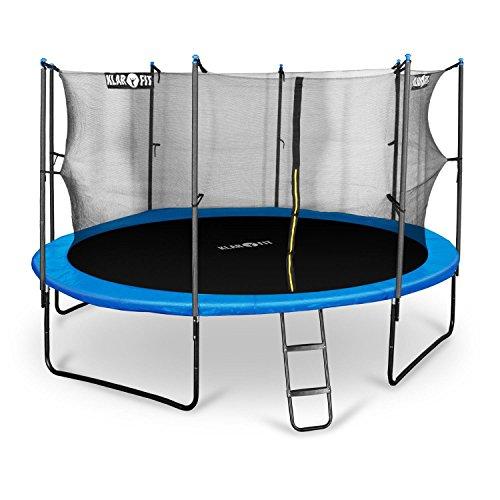 Klarfit-Rocket-XXL-Gartentrampoline-Kinder-und-Garten-Trampolin-mit-Netz-und-Leiter-in-den-Gen-25m-3m-37m-4m-43m-Sicherheitsnetz-Abdeckbaube-Sicherheit-bis-max-150-kg-Stangen-gepolstert-Schaumstoff-Ab