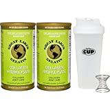 Great Lakes Gelatin, 2 Collagen Hydrolysate 16-Ounce Cans and By The Cup Shaker Combo