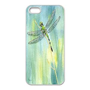 Green Dragonfly Giclee Print from a Watercolor Case For Sam Sung Galaxy S5 Mini Cover Cases, Stevebrown5v {White}