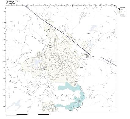 Amazon.com: ZIP Code Wall Map of Crossville, TN ZIP Code Map