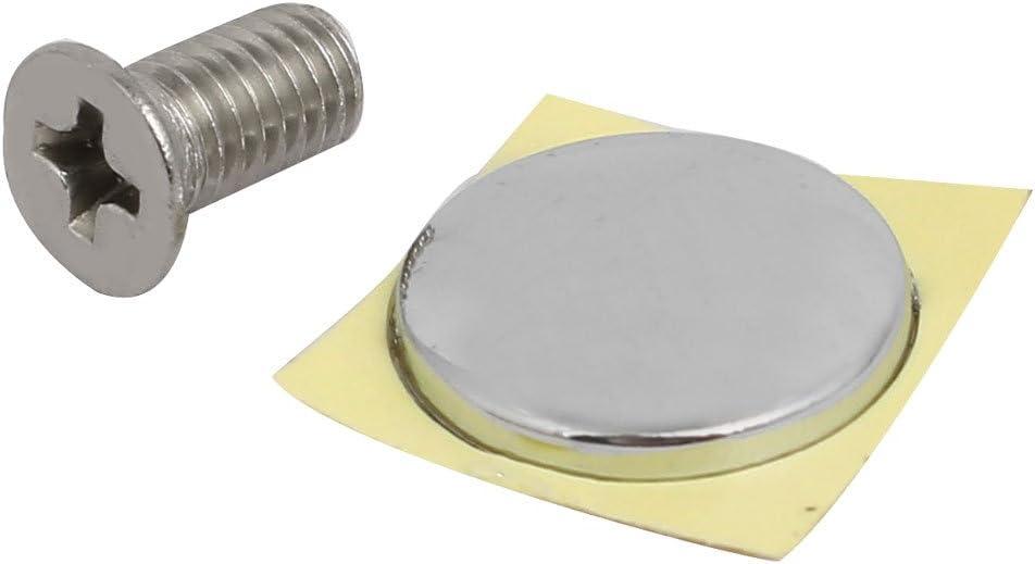tono plateado aleaci/ón de zinc ajuste universal sourcing map Accesorio para grifer/ía forma cruzada kits mango