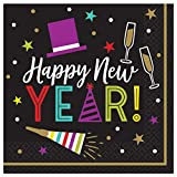 "Bright""Happy New Year"" Luncheon Napkins, 6"" X"