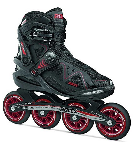 Roces 400803 Men's Model Gymnasium 2.0 Fitness Inline Skate, US 8, Black/Red