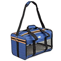 Airline Approved Soft Sided Under Seat Pet Carrier for Small Cats & Dogs during Air Travel 17L X 11W X 11H