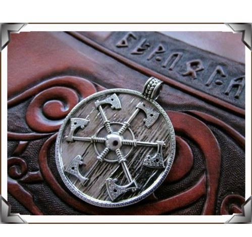 (Express$ 1pcs Thunder shield of Perun Slavic Axes gothic retro Pagan Pendant men Amulet Necklace axe Norse handmade Jewelry)