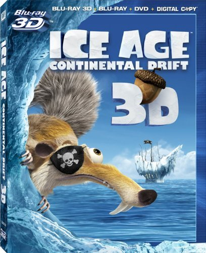 "Ice Age Continental Drift 3D LIMITED EDITION Includes ""Ice Age a Mammoth Christmas 3D"" - Blu-ray 3D / Blu-ray / DVD / Digital Copy"