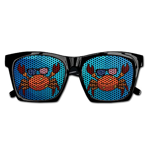 Unisex Cute Crab Sunglasses USA Flag Polarized Stylish Sunglasses For Men Women Full - Crab Sunglasses