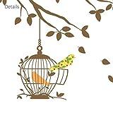 DECOWALL DW-1510BR Birds on Tree Branch with Bird